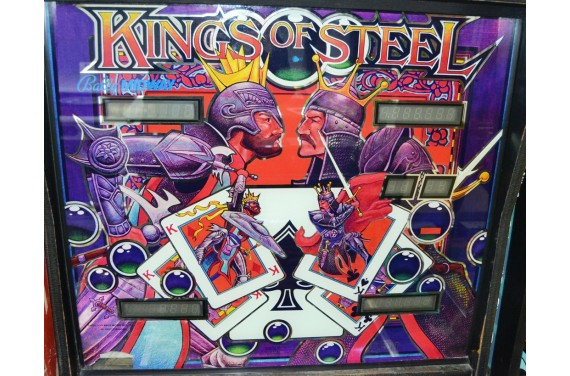 Backglass Bally Midway Kings of steel