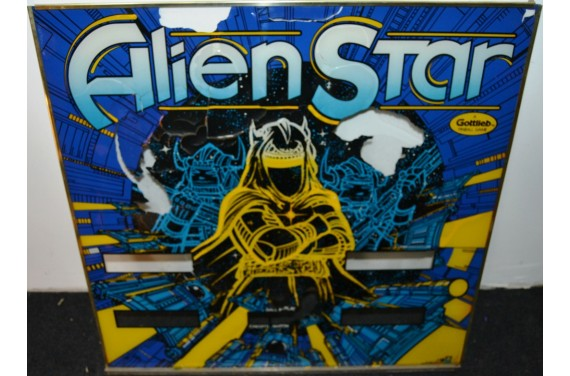 Backglass Gottlieb Alien Star