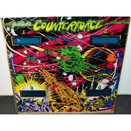Backglass Gottlieb Counterforce